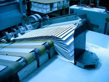 Image of paper being printed