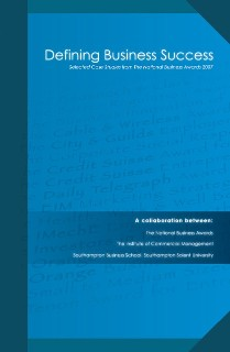 Image of a book published for the Institute of Commercial Management and National Business Awards