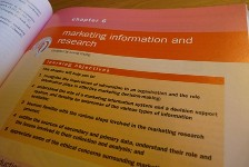 Image of a chapter of a textbook entitled: Marketing Information and Research